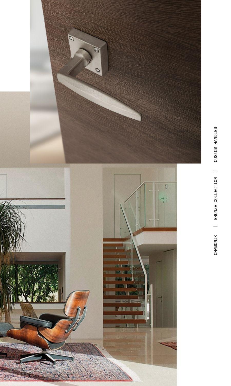 CHAMONIX custom LE FABRIC maniglie collezione BRONZO maniglie personalizzate custom doorhandle