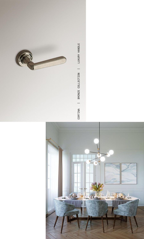CORTINA LE FABRIC maniglie collezione BRONZO maniglie personalizzate custom door handle