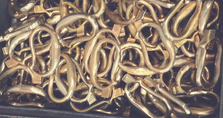 Materiali maniglie rame e peltro