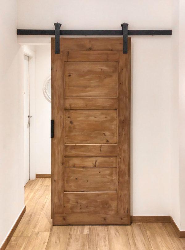 binario per porta scorrevole le fabric porta semichiusa