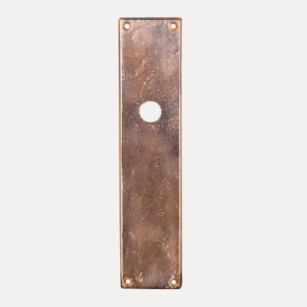 placca rettangolare larga serie bronzo per maniglie