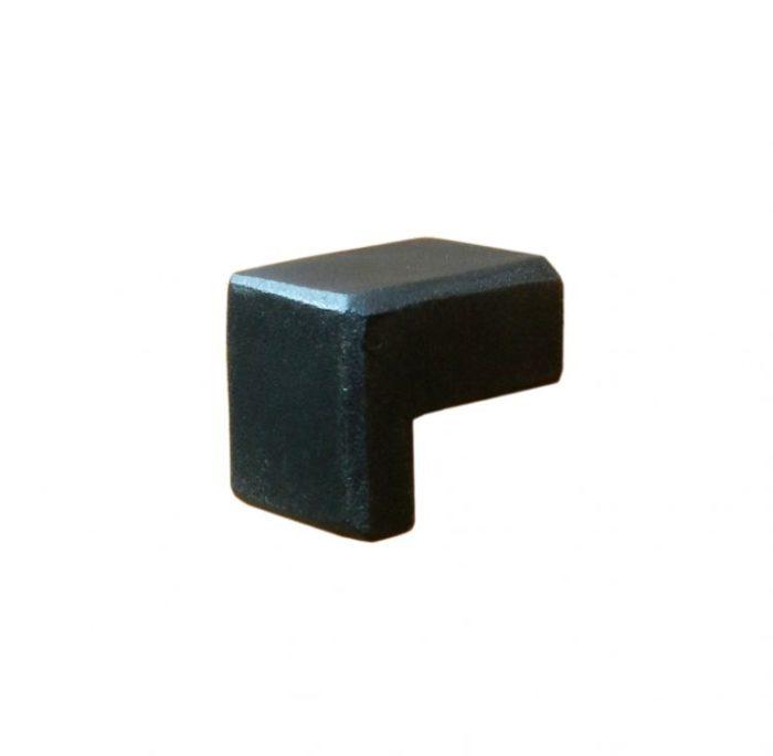 pomello in ferro nero opaco serie 680