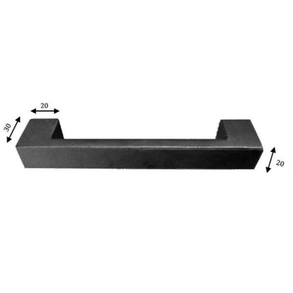 wide base iron handle
