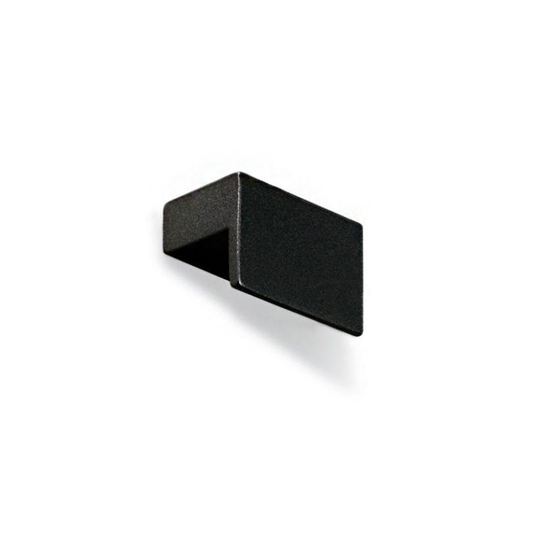 Pomolo per mobile squadrato Le Fabric 35x24 mm Nero Opaco