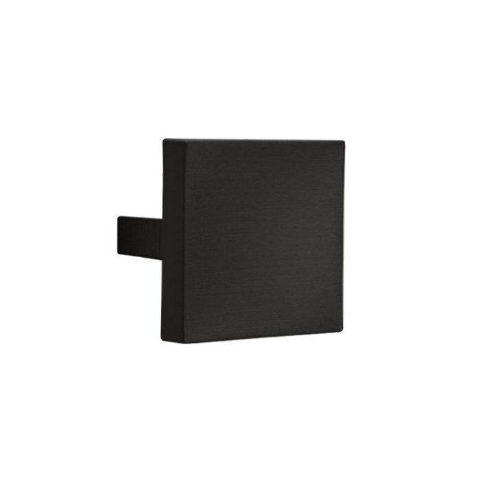 150ANEOP Pomolo per mobile quadrato Le Fabric 60x60 mm interasse 32 mm Nero Opaco