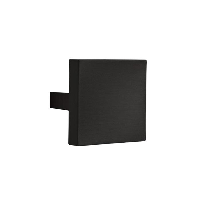 Square cabinet knob Le Fabric 60x60 mm center distance 32 mm Matt Black