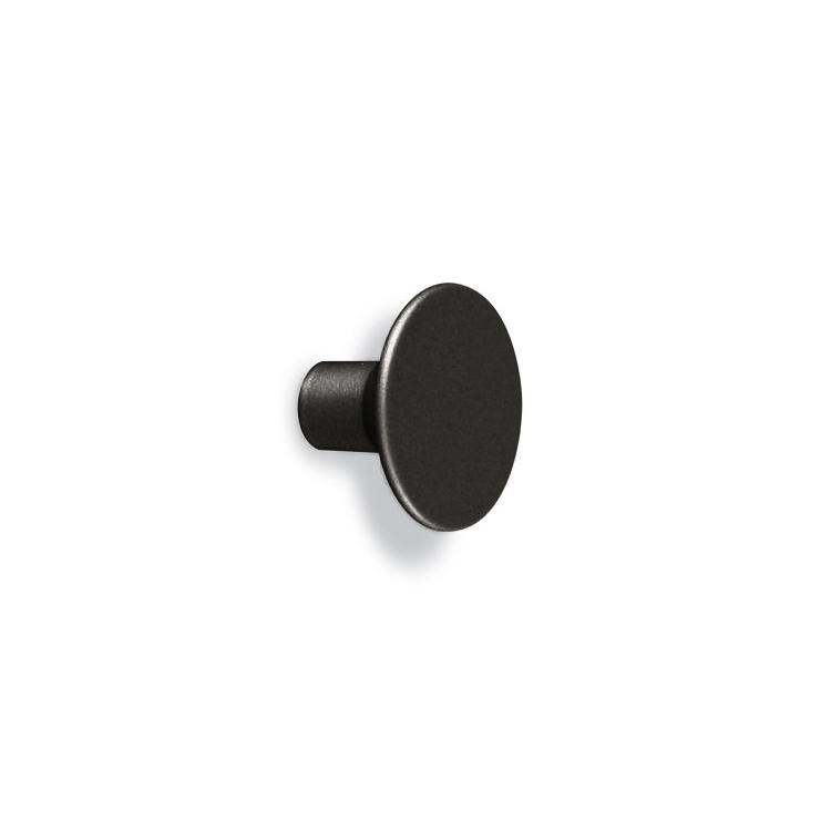Round furniture knob Le Fabric 33x22x12 mm Matt Black