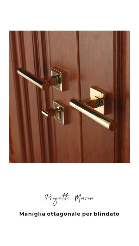 Progetto maniglia per porta blindata