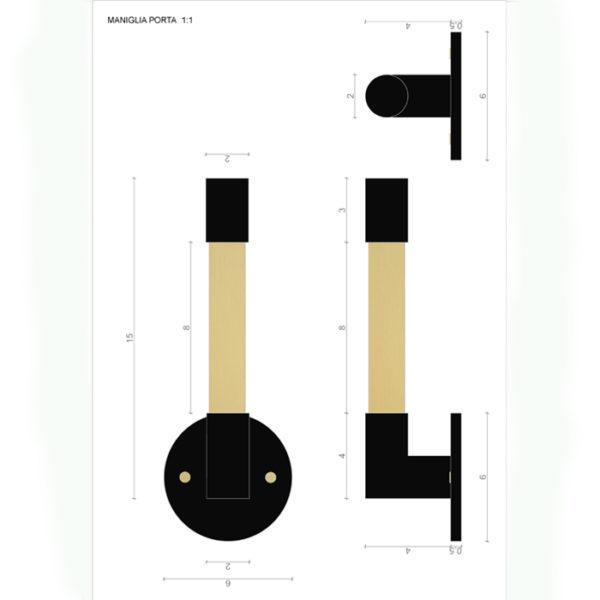 schema Matt Handle Le Fabric italian design