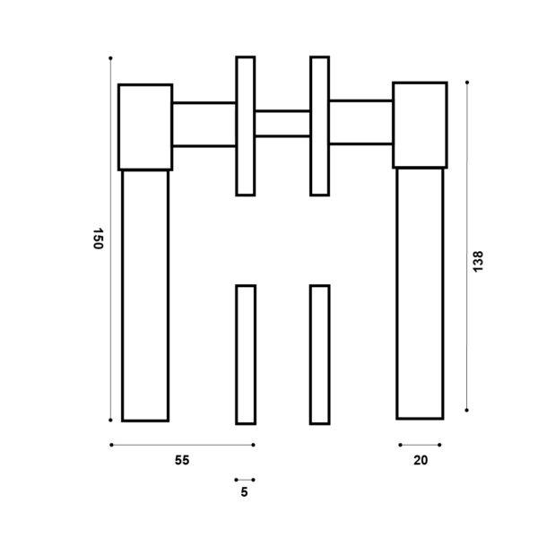 Tortona handle italian design Le Fabric DK schema