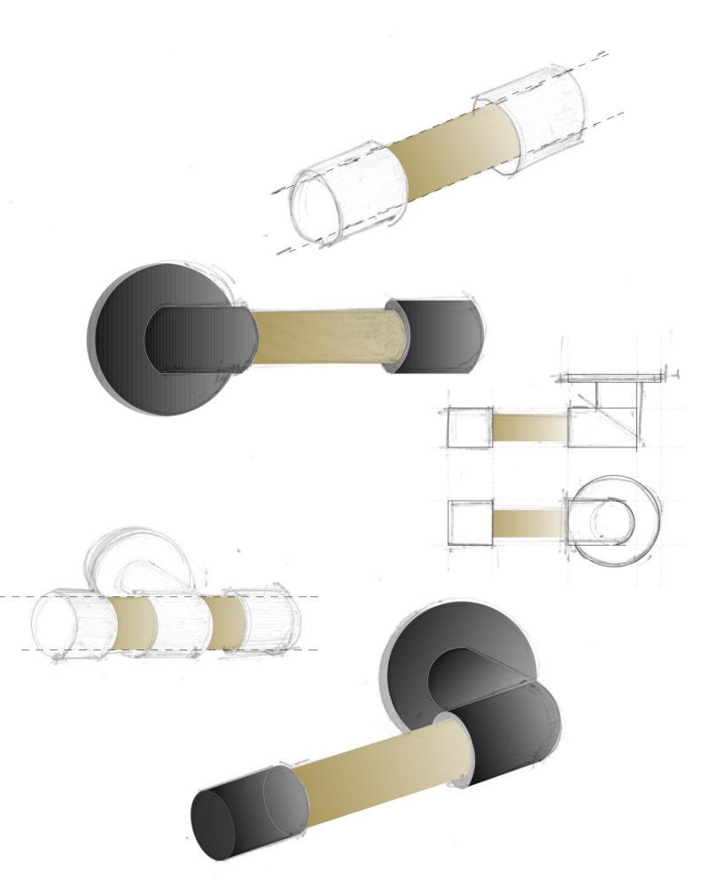 Matt maniglia disegno tecnico architetto